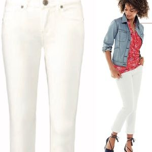 CAbi 5172 Kick It Crop White Jeans Size 10